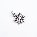 Acessório para planner A.Craft – Pingente prata – Floco de neve1