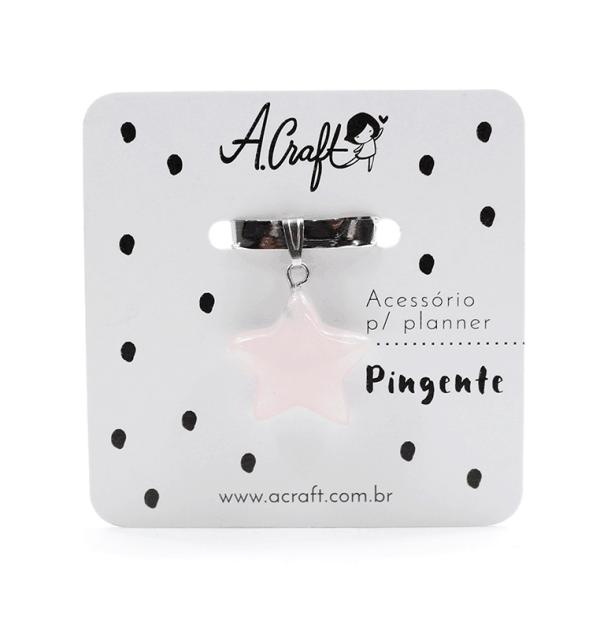 Acessório para planner A.Craft – Pingente quartzo rosa