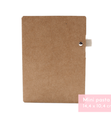 Planner A.Craft – Mini Pasta porta caneta em papel kraft