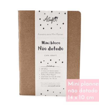 Planner A.Craft – Mini não datado - Capa kraft