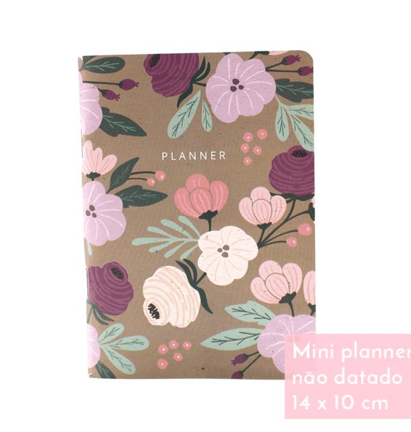 Planner A.Craft – Mini não datado - Floral fendi