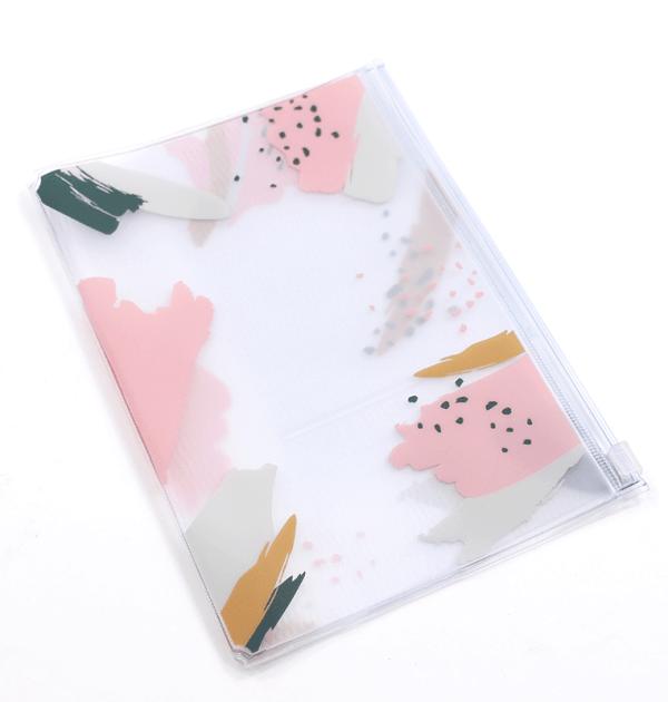 Planner A.Craft – pasta plástica com zíper – Estampa Pink Brush