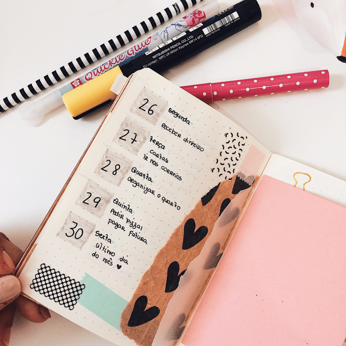 Inspirações de layouts para bullet journal 1