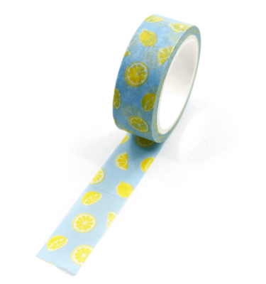 Washi-tape-–-Fruits---Lemon