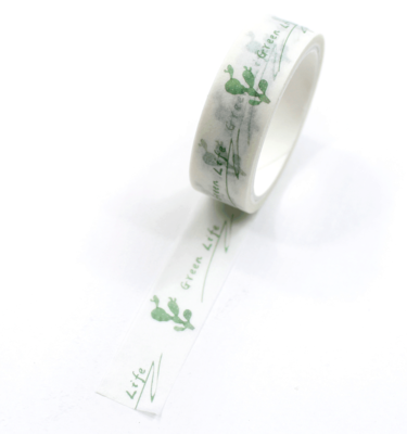 Washi-tape-–-Plants---Cacto
