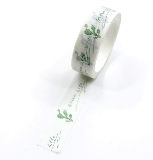 Washi-tape-–-Plants---Cacto