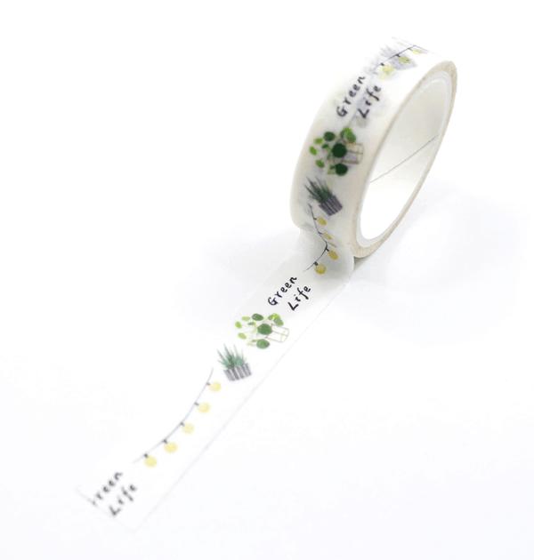 Washi-tape-–-Plants---Green-life