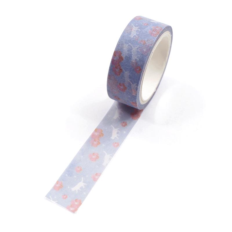 Washi-tape-–-Sakura-and-cat---Lilac