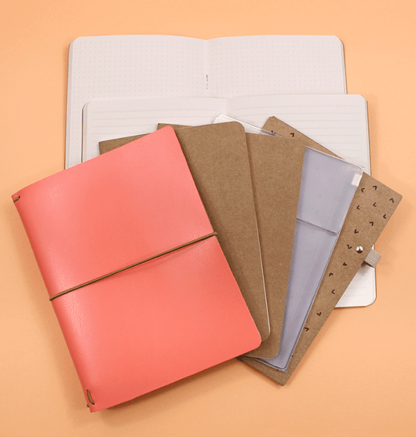 Kit-bullet-journal-–-Capa-rosa-coral