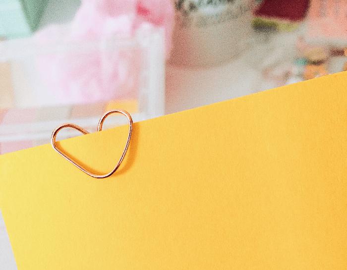 5 formas criativas de marcas as páginas do seu planner clips coração