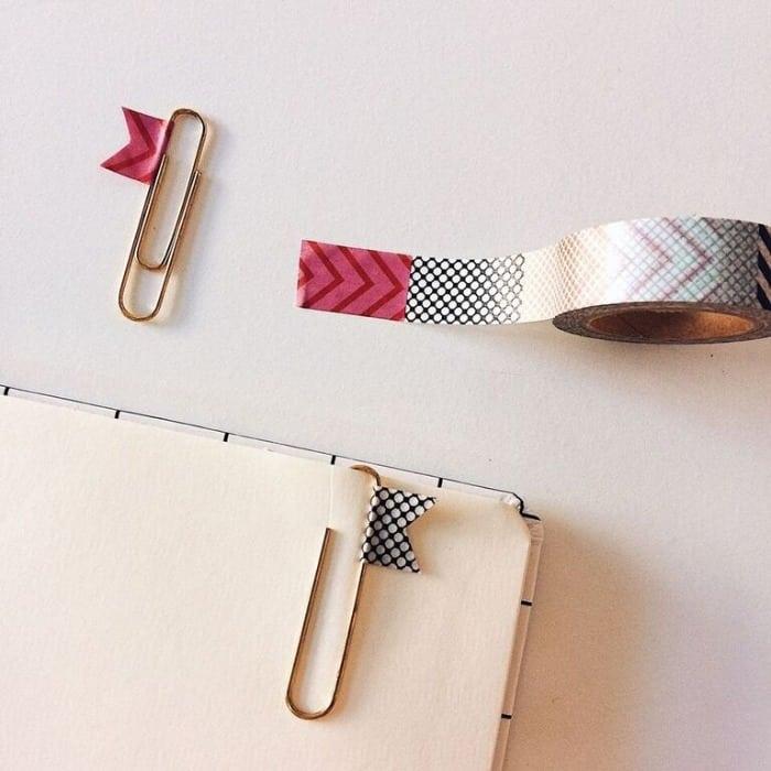 5 formas criativas de marcas as páginas do seu planner clips