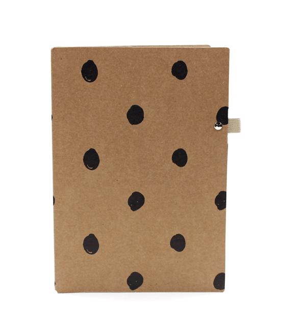 Planner A.Craft - Pasta porta caneta em papel kraft - Bolinhas