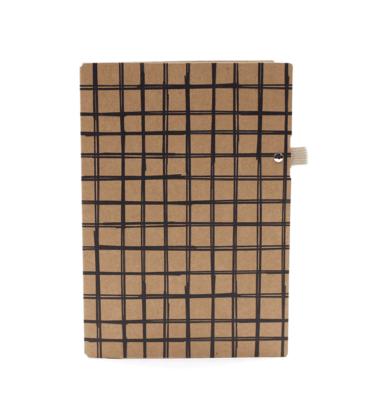 Planner A.Craft - Pasta porta caneta em papel kraft - Quadriculado