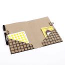 Planner A.Craft – Pasta porta caneta em papel kraft – Quadriculado4
