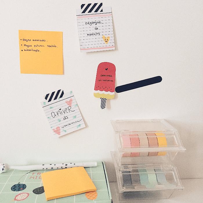 Memory board: Como usar na sua organização washi tape