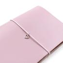 Acessório para planner A.Craft – Pingente prata – Coração2