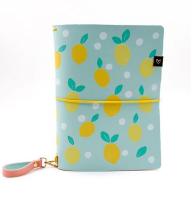 Planner A.Craft – Capa Mint - Estampa limão siciliano (para 4 blocos)