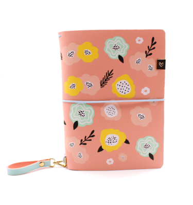 Planner A.Craft – Capa Peach - Estampa primavera (para 4 blocos)