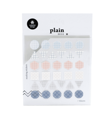 Adesivo decorativos - Plain deco geométrico - Cor pastel 1 (n.1611)