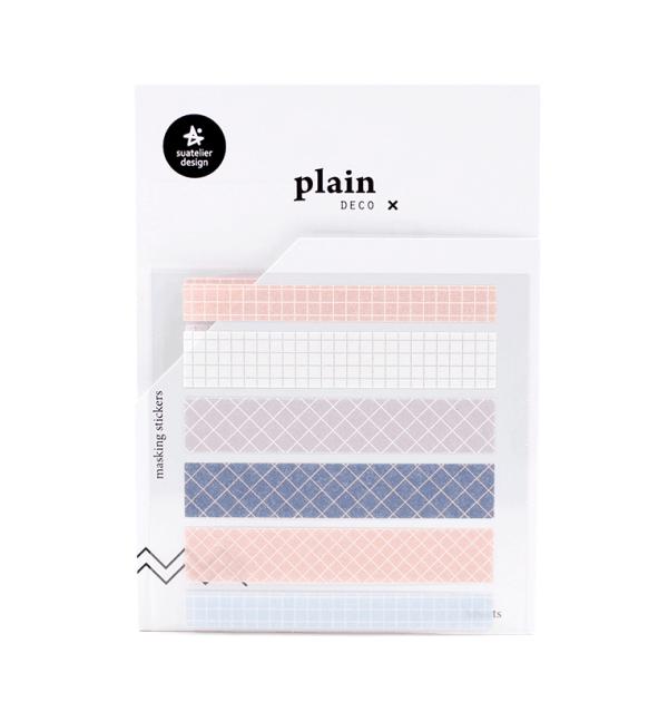 Adesivo decorativos - Plain deco tape - Quadriculado