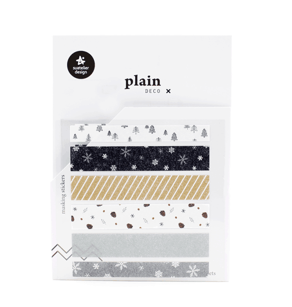 Adesivo decorativos - Plain deco tape - Winter