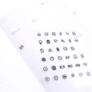 Adesivo funcionais – Plain deco ícone – Notes 3