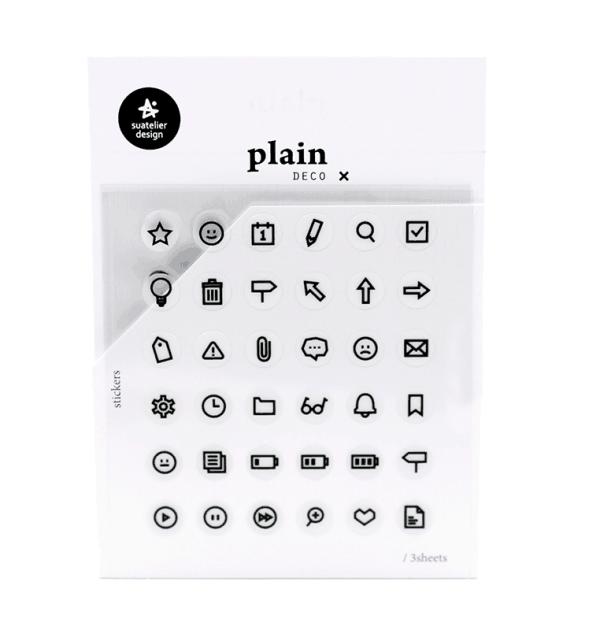 Adesivo funcionais - Plain deco ícone - Notes