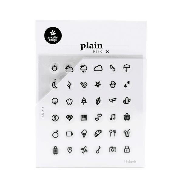 Adesivo funcionais - Plain deco ícone - Planos