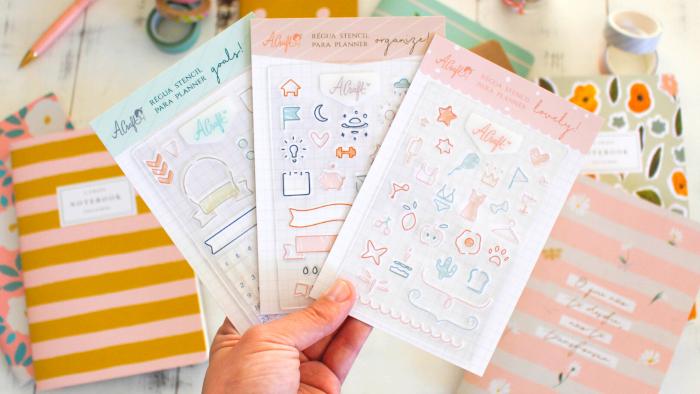 Régua stencil A.Craft: como pra deixar seu planejamento mais prático e divertido