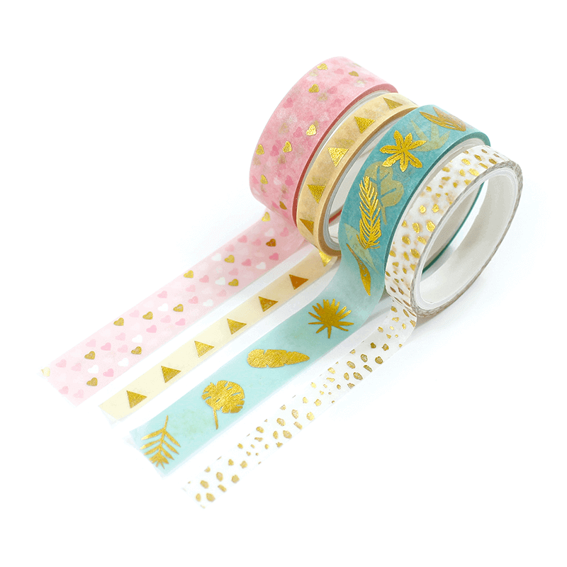 Kit 4 Washi tapes - Tropical