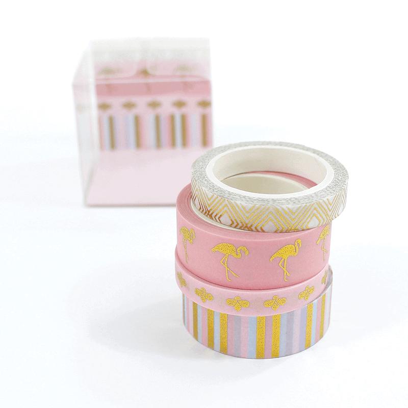 Kit 4 Washi tapes - Flamingo Chic